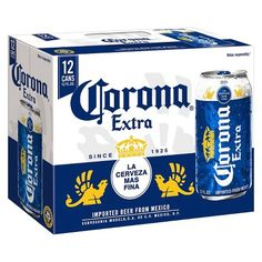 Corona Extra Lager Beer - fl oz Cans Malted Barley, Lager Beer, Liquor Store, Corona Beer, Brewing, First Love, Drinking, Alcoholic Drinks, Finding Yourself