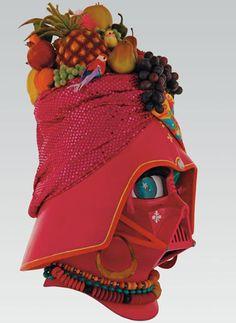 custom Darth Vader helmet