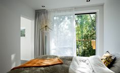 Bedroom - double layer of curtains