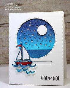 This card will blow you away!!!! @garkarlon created this SLIDER card that LIGHTS UP using supplies from #EssentialsbyEllen, @chibitronics, and @mftstamps. Visit our blog for a video tutorial and tons of tips! ⛵️ #EllenHutsonLLC Link to card in bio.