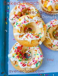 Peach Nectarine Doughnuts