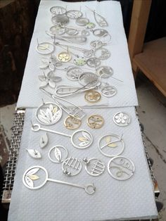 Pile of clean jewellery! Diana Greenwood