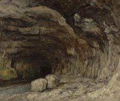 "Gustave Courbet born #onthisday in 1819 said, ""To create a living art, that is my aim.""  - Gustave Courbet - Grotto of Sarrazine near nans sous Sainte Anne -French -about 1864 --http://ow.ly/O66to"