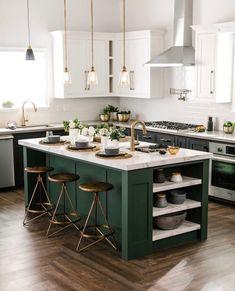 quelques belles idées de décoration pour un ilot de cuisine
