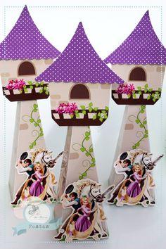 Cone torre Enrolados - Rapunzel no Elo7 | Michele Nunes Moreira (647FA1) Rapunzel Birthday Party, Princess Theme Party, Ballerina Birthday Parties, Tangled Party, Disney Princess Party, 4th Birthday Parties, Bolo Rapunzel, Gingerbread House Template, Disney Princess Characters