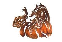 "Windy ( Horse ) Metal Wall Decor | 21"" | Metal Wall Art"