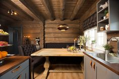 Forest Land: The Dream Cabin! Mountain Cottage, Cozy Cottage, Scandinavian Cabin, Timber Cabin, Cabin Kitchens, Dere, Energy Efficient Homes, Western Homes, Building A House