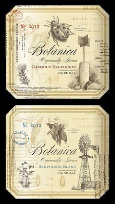 Botanica wine labels by http://dribbble.com/simonfrouws