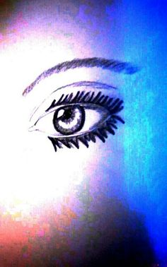 A eye and used an app to make the color by : MARISSA