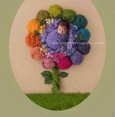 Rainbow flower baby by Luisa Dunn photography