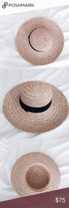 9def3399d60 Flat-Top Boater Hat NWT