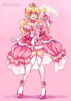 Super Mario Brothers, Super Mario Bros, Anime Chibi, Anime Art, Super Princess Peach, Twilight Princess, Princess Zelda, Mario Fan Art, Peach Mario