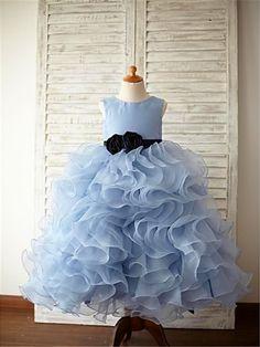 e43c87ec780d Ball Gown Sleeveless Scoop Ruffles Floor-Length Organza Flower Girl Dresses  Wedding Girl