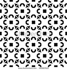 Vector monochrome texture, geometric seamless pattern. Illustration in oriental Arabian style, traditional motif. Simple black & white geometric shapes, repeat tiles. Stylish abstract background