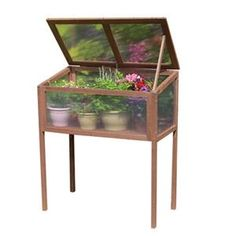 Raised Wooden Cold Frame HowardStore.com