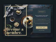 jpg by Brad Dawson Login Page Design, Footer Design, Homepage Design, Web Ui Design, Graphic Design, Restaurant Website Design, Card Ui, Sign Up Page, Website Layout