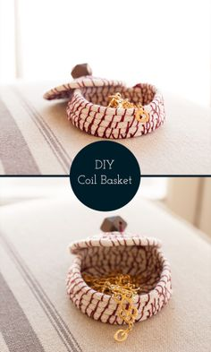 DIY stitched coil jewelry basket / step-by-step tutorial