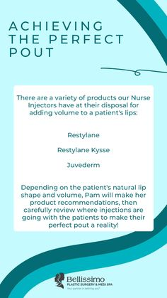 Are you looking to get the perfect pout, but don't know where to start? We are here to help! Our nurse injector, Pamela, can use a variety of products to help patients find the results they are looking for, but there is not one solution across the board. It all depends on the individual patient, and a nurse injector who knows their products! Learn more about what lip products and treatments Pam recommends and how a session works during May's Facebook live. Lip Shapes, Lip Injections, Lip Products, Lip Fillers, Natural Lips, Plastic Surgery, Need To Know, Facebook, Live