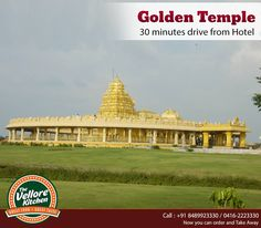Vellore Golden Temple is completely covered in gold layer and a must visit place when at Vellore. Enjoy dining at The Vellore Kitchen which is just 30 min drive from the Temple.   #TheVelloreKitchen #TakeAway #FamilyRestaurant #FineDining #Vellore #Temple #Restaurant