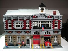Modified Fire Brigade Modular Building: A LEGO® creation by LegoRyu 1777 : MOCpages.com