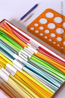 Inna's Creations: DIY: Cutting paper strips for quilling