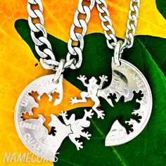 Frog Jewelry Friendship necklaces animal lovers hand by NameCoins