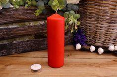 Κεριά Κυλινδρικά Κόκκινα Φ6x20εκ Pillar Candles, Taper Candles
