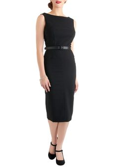 Bettie Page Folded Fatale Dress from ModCloth.com is absolutely adorable, and perfect for conferences and meetings! $139.99