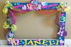 Ideas para tu Fiesta: My little pony-Party My Little Pony Party, Cumple My Little Pony, Trolls Birthday Party, 5th Birthday Party Ideas, Rainbow Birthday, Girl Birthday, Party Frame, Little Poney, Unicorn Party