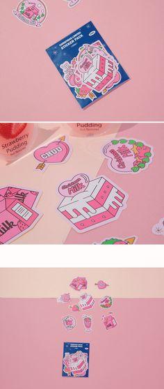츄(chuu) | strawberry milk.산타의 선물 sticker | 폰케이스 Cute Illustration, Graphic Design Illustration, Packaging Design, Branding Design, Pastel Designs, Japan Design, Hand Sketch, Design Seeds, Cute Wallpaper Backgrounds