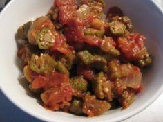 Bhindi masala - Okra, onion, and tomato in chana masala sauce. One of my favorite Indian dishes!