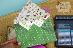 How to make own custom envelopes - VIDEO TUTORIAL by @Sue Gifford Gemini