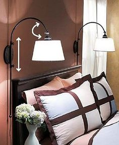 Wall Lamp Adjustable Vintage Reading Wall Lamp Swing Arm Lighting Bedside NEW