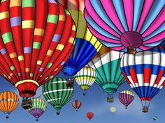Balloons - Balloon, Hot Air, Other, Sky, Colorful, Hot Art, Air Balloon…