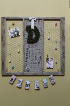 re-purposed old window decorated for Spring