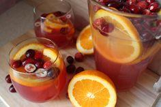 Winter Cranberry Orange Lemonade