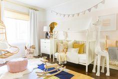Sweet pastel by Valspar - A Little Girl's Bedroom Makeover with Stokke - Emily Henderson