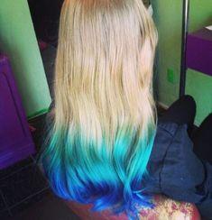 Blue hair tips dyed - top 5 black brown hair extensions with Hair Tips Dyed Blue, Dyed Ends Of Hair, Dyed Tips, Hair Dye Tips, Dip Dye Hair, Colored Hair Tips, Dyed Blonde Hair, Dip Dyed, Hair Dye For Kids