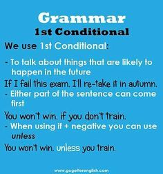 English first conditional
