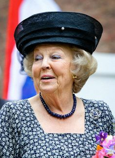 Princess Beatrix, opened an exhibition of gifts of silver of the Dutch Royal Family at the Silvermuseum in Schoonhoven