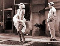 """Marilyn Monroe's skirt blowing scene from """"The Seven Year Itch"""""""