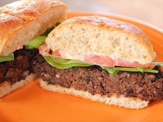 Ree uses leftover black beans to create a delicious meatless burger.