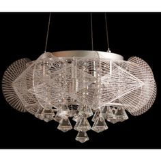 $409.50 / piece Fixture Width: 48 cm (19 inch) Fixture Length : 48 cm (19 inch) Fixture Height:32 cm (13 inch) Color : chrome Materials:crystal,glass,iron