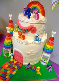 My little pony castle cake cake my little pony cake birthday party cake girl pink blue rainbow cookie cupcake
