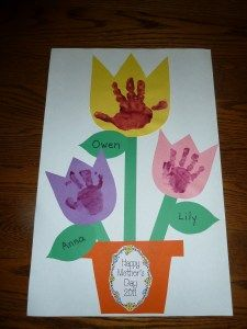 Handprint Flowers (also good for Mother's Day)