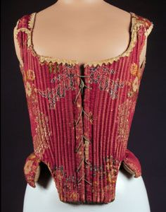 Sixteenth Century corset. link shows corset design progression fr 16th century to modern. photos.  )