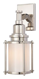 Visual Comfort E. Chapman Stanway Sconce in Polished Nickel with White Glass Comfort & Co. Stanway Sconce in Polished Nickel with White Glass Product Code: Finish: Polished Nickel (May Patina Slightly) Collectio Wall Lights, Sconces, Outdoor Wall Sconce, Visual Comfort Lighting, Outdoor Wall Lighting, Polished Nickel, White Glass, Wall Sconce Lighting, Visual Comfort