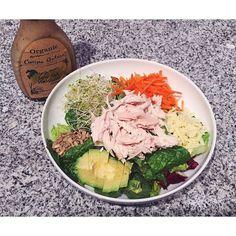 Made myself a #kardashiansalad tonight lol! Always see the Kardashians eat this chef salad from @healthnutla