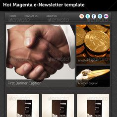 Hot Magenta e-Newsletter Template