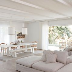 Back-to-back sofas—House 10. By Three Birds Renovations x Sophie Bell, featuring Dulux White on White.